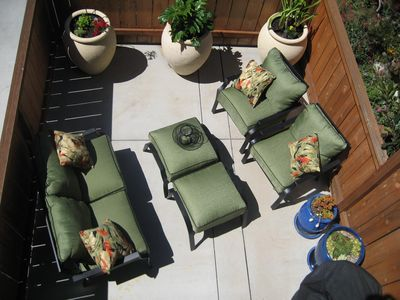 Patio with barbeque