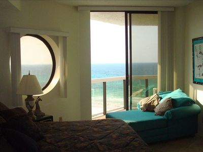 Master bedroom & balcony view