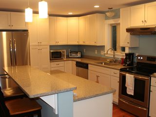 Ogunquit house photo - All new kitchen and appliances with quartz countertops.