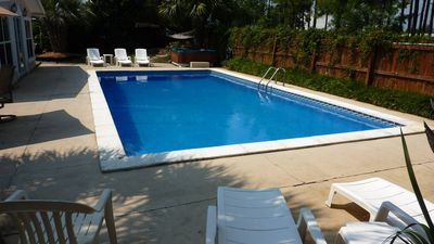 HUGE Private Swimming Pool (16' x 32') w/ Large Private Sundeck, Fenced backyard