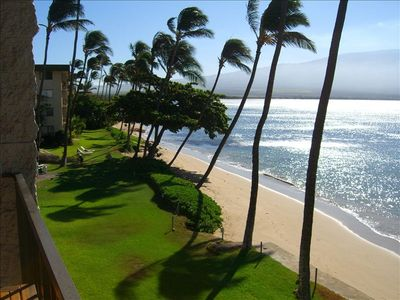 Maalaea condo rental - View from lanai of #301.