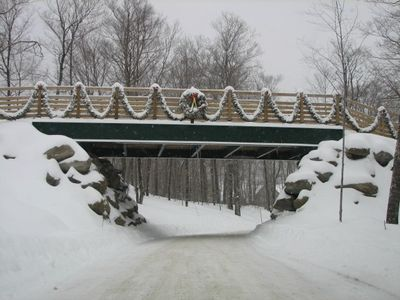 Skiers Bridge (This is the road to the condo)