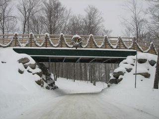 Jay Peak condo photo - Skiers Bridge (This is the road to the condo)