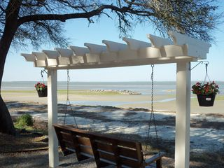 Port Royal villa photo - Closeup of one of the two beach area pergolas. Relax and enjoy the views.