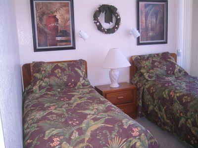 South Padre Island condo rental - 2nd bedroom with private bath attached.