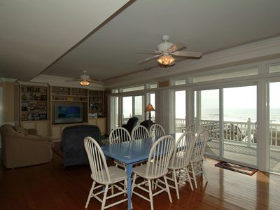 Great Room with view to deck and ocean.