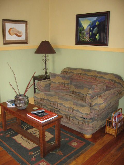 Living room with sleeper love seat
