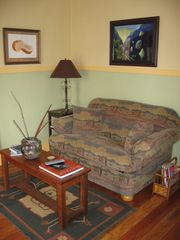 Albuquerque cottage photo - Living room with sleeper love seat