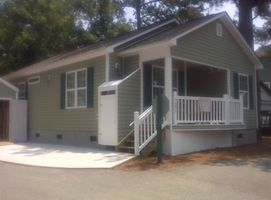 New House on Corner Lot! Enclosed Shower! Shed and Deck!