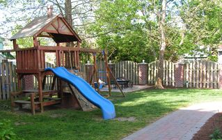 Cape Charles house photo - Private playground in the private, fenced in back yard