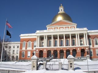 Boston condo photo - The State House, a short walk from our front door.