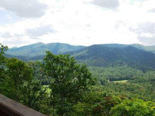 Sapphire house photo - View of North Carolina mountains from Main Level deck.