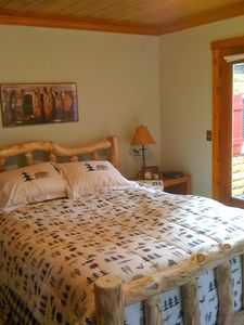 Black Hawk cabin rental - Master Bedroom with Queen Bed.