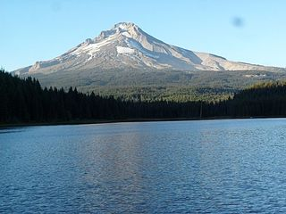 Government Camp lodge photo - Mt Hood from Trillium Lake, September