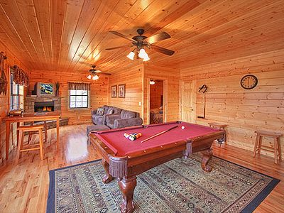 Lower Level Gameroom with Pool Table