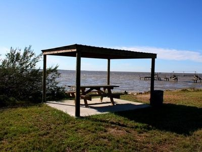 Community park on Copano Bay just across the street from the house