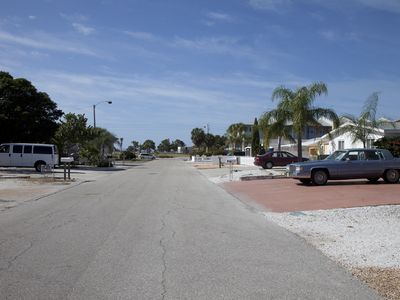 Beach is at the end of the street.