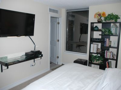 Master bedroom with 42' HD flat screen  attached bathroom!