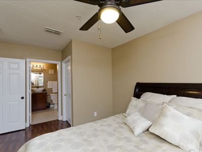 Spacious Master with Ceiling Fan