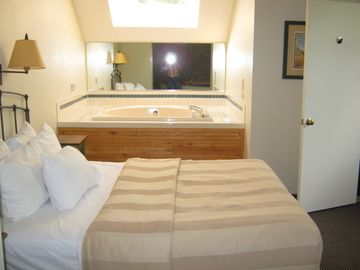 master bedroom with jacuzzi tub