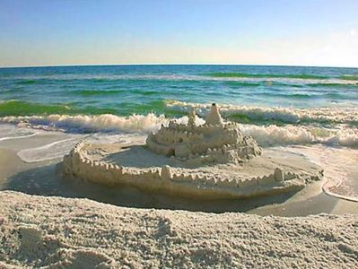 Build sand castles and lifetime memories on your beautiful white sand beach