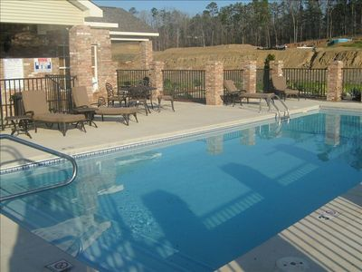 Hot Springs condo rental - View of club house and pool