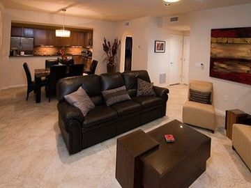 Desert Ridge Scottsdale condo rental - Our living room, dining room and kitchen. The 2nd bedroom and bath to the right.