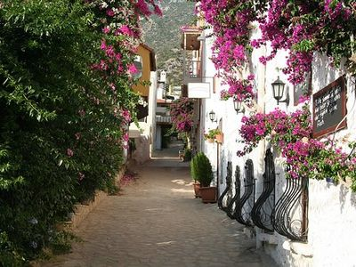 Kalkan apartment rental - Pretty narrow streets in the Old Town.