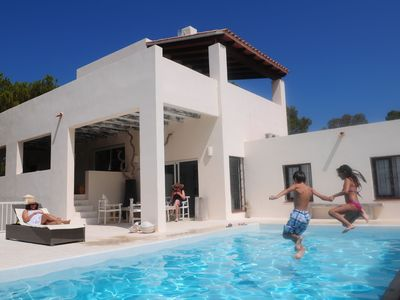 Cala Tarida house rental - Holiday Home Exterior [summer]