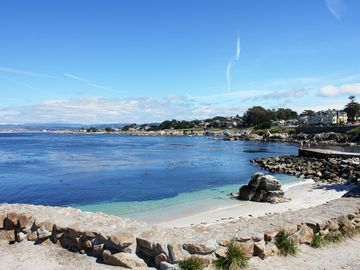 "Pacific Grove house rental - Welcome to ""The Mermaid House""! This calm bay and lovely beach is at Lover's Point just a short walk from the house. Pet Friendly!"