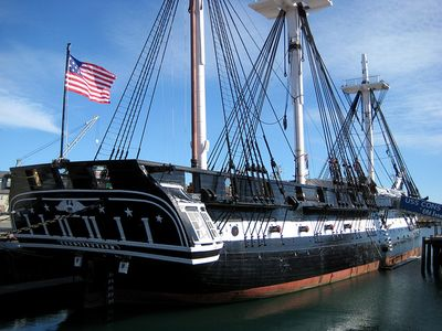 Old Ironsides a must see 1 1/2 mile away on the Freedom Trail