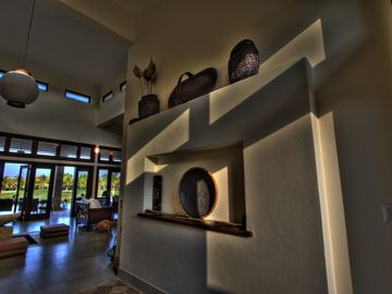 Entrance into Villa with View to Terrace, Pool and 14th Hole