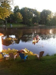 Lebanon cottage rental - lakefront with firepit
