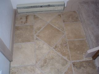 Fraser townhome photo - Travertine Floor Entry