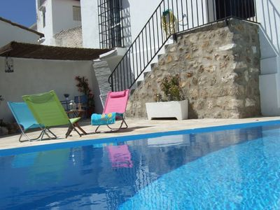 With wonderful views and swimming pool with barbecue exclusive