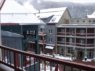 Keystone slopes and Event Center from our Silver Mill balcony.