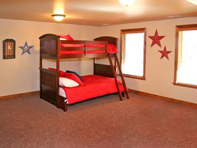 Bunk Bed Room in Basement