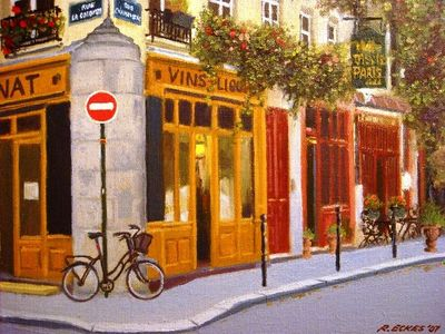 4th Arrondissement Pompidou Le Marais apartment rental - Painting Rue Chanoinesse