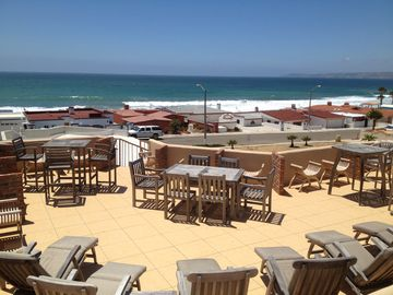 Huge Rooftop Deck with Panoramic Ocean views from Calafia Point to Ensenada.