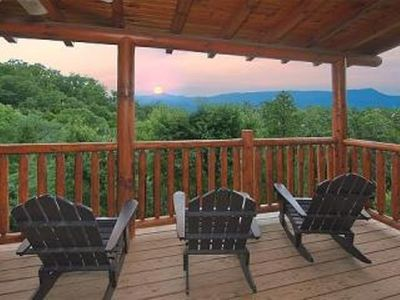 .Mountain views from deck