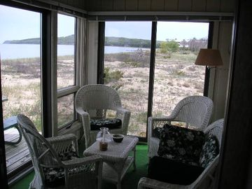 Enjoy the breezes on the screened in porch...