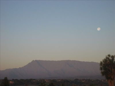 Kealia house rental - Moonsets over Mount Waialeale - often called the wettest spot on earth.