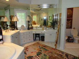 Big Canoe house photo - Master bathroom vanity with bidet.