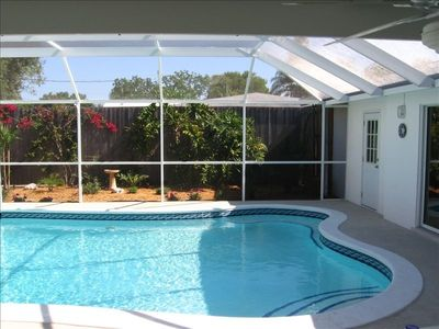 Sarasota house rental - Pool view from kitchen