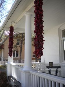 Ristras at a building downtown