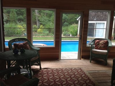 East Hampton house rental - Screened-in porch