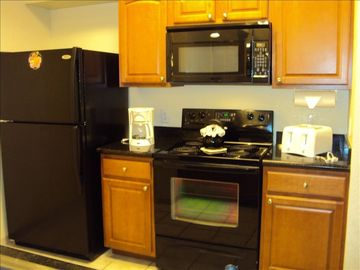 Closer view of full on-site Kitchen Appliances.
