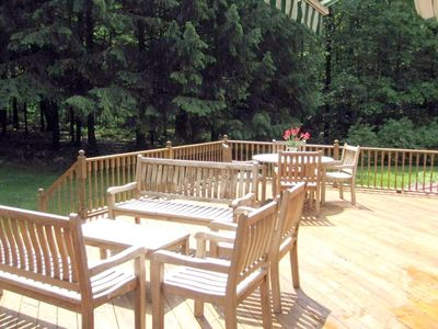 Stephentown house rental - The back deck with access from sliding doors off the living room/kitchen