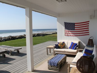 Rye cottage rental - Beautiful Covered Oceanside Seating Area