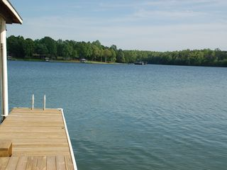 Moneta house photo - Come on in, the water's fine! Jump right in off the dock!